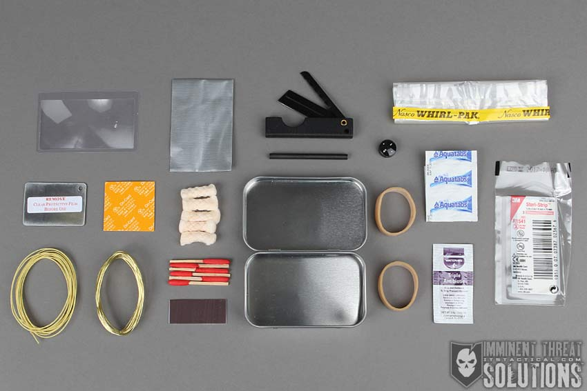 Mini Survival Kits and Pebble Leather Morale Patches
