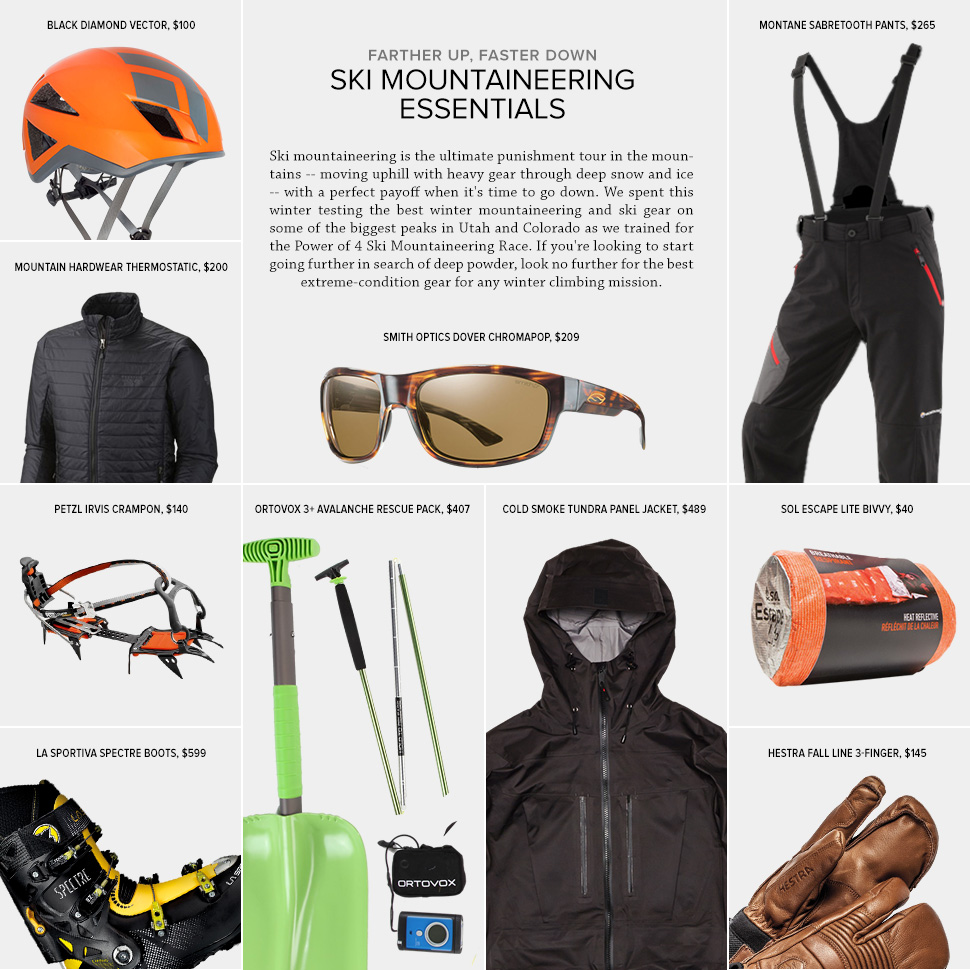 EARN YOUR TURNS KIT: SKI MOUNTAINEERING 山地滑雪装备选购